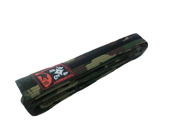 Tarn Camouflage Budo Karate Gürtel woodland mit schwarzem Mittelstreifen