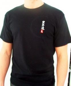 Budodrake Karate T-Shirt schwarz bestickt mit Karate-Do