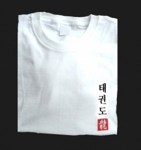 Budodrake T-Shirt weiß Taekwondo
