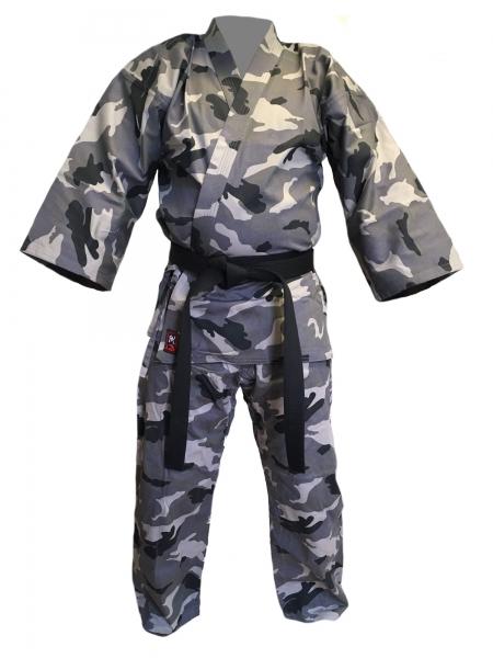 Karateanzug Freestyle Camouflage grau Tarn ABVERKAUF