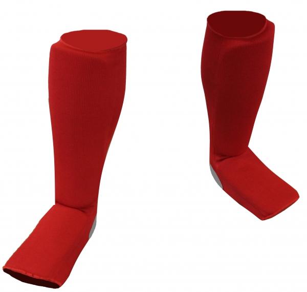 Schienspannschützer Baumwolle, rot