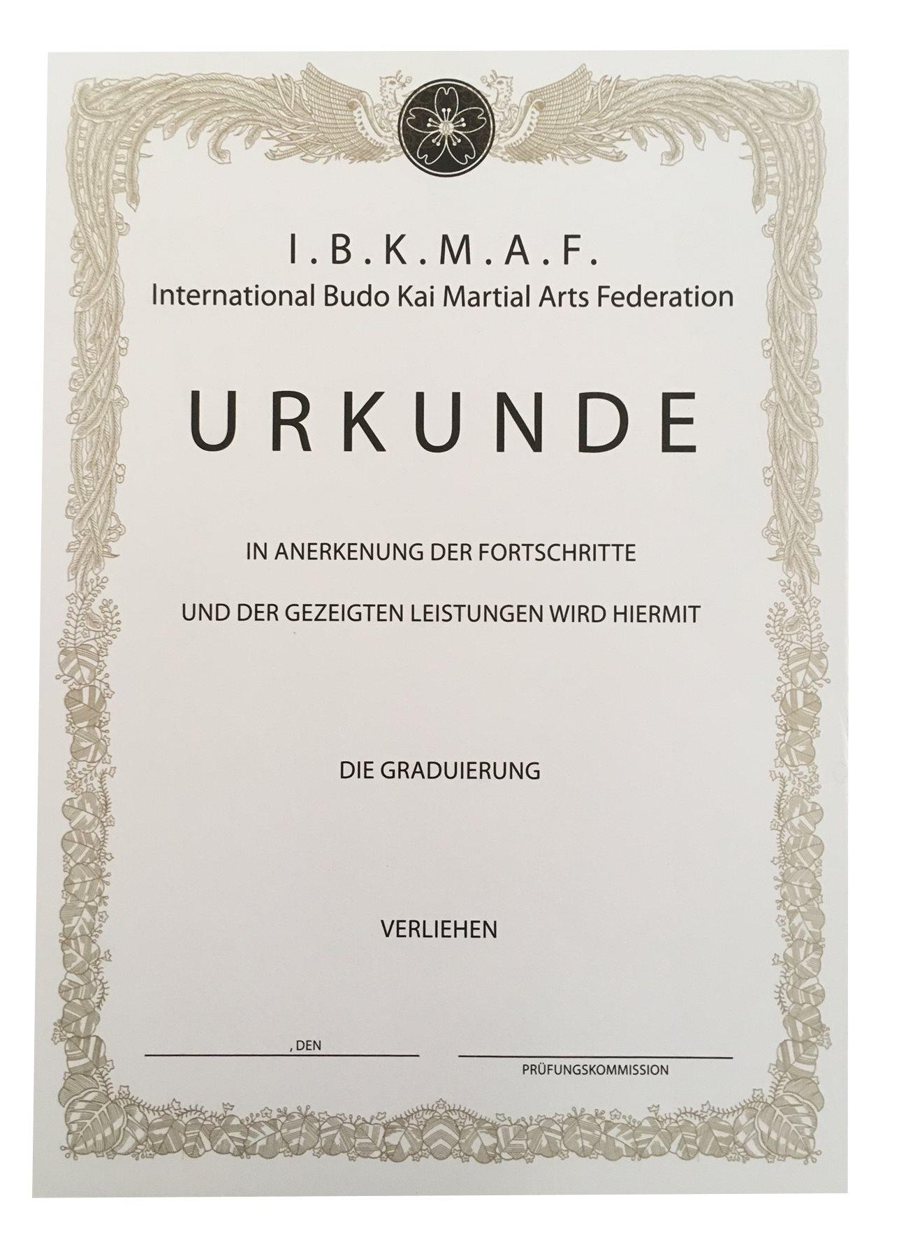 Besondere Urkunden | Für Kampfsportschulen | Kampfsport Management ...
