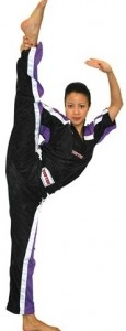 TOP TEN Kickboxjacke schwarz-violett