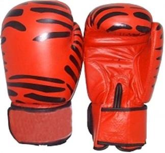 Boxhandschuhe Echtleder Tiger rot-schwarz