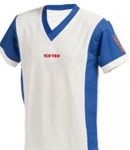 TOP TEN V-Shirts unisex 1955 weiß/blau