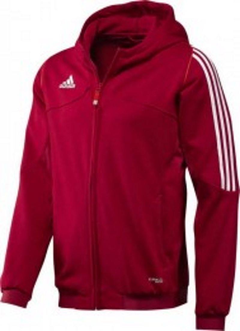 ADIDAS Team Hoodie T12 Damen Kapuzen Sweatshirt, rot