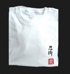 Budodrake T-Shirt weiß Ninjutsu