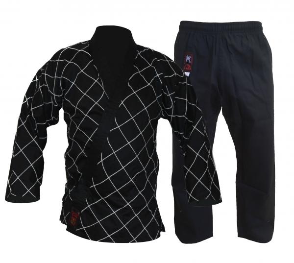 Hapkido-Anzug schwarz mit Rauten