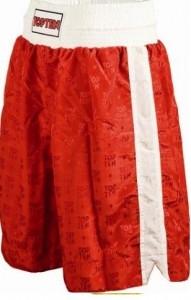 TOP TEN Boxhosen Satin rot (weiße Streifen)