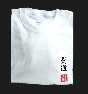 Budodrake T-Shirt weiß Kendo