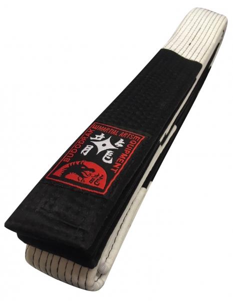 Großmeistergürtel weiß-schwarz geblockt 5cm