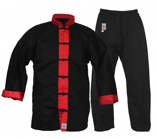 Kung Fu Anzug Junior Master schwarz / rot