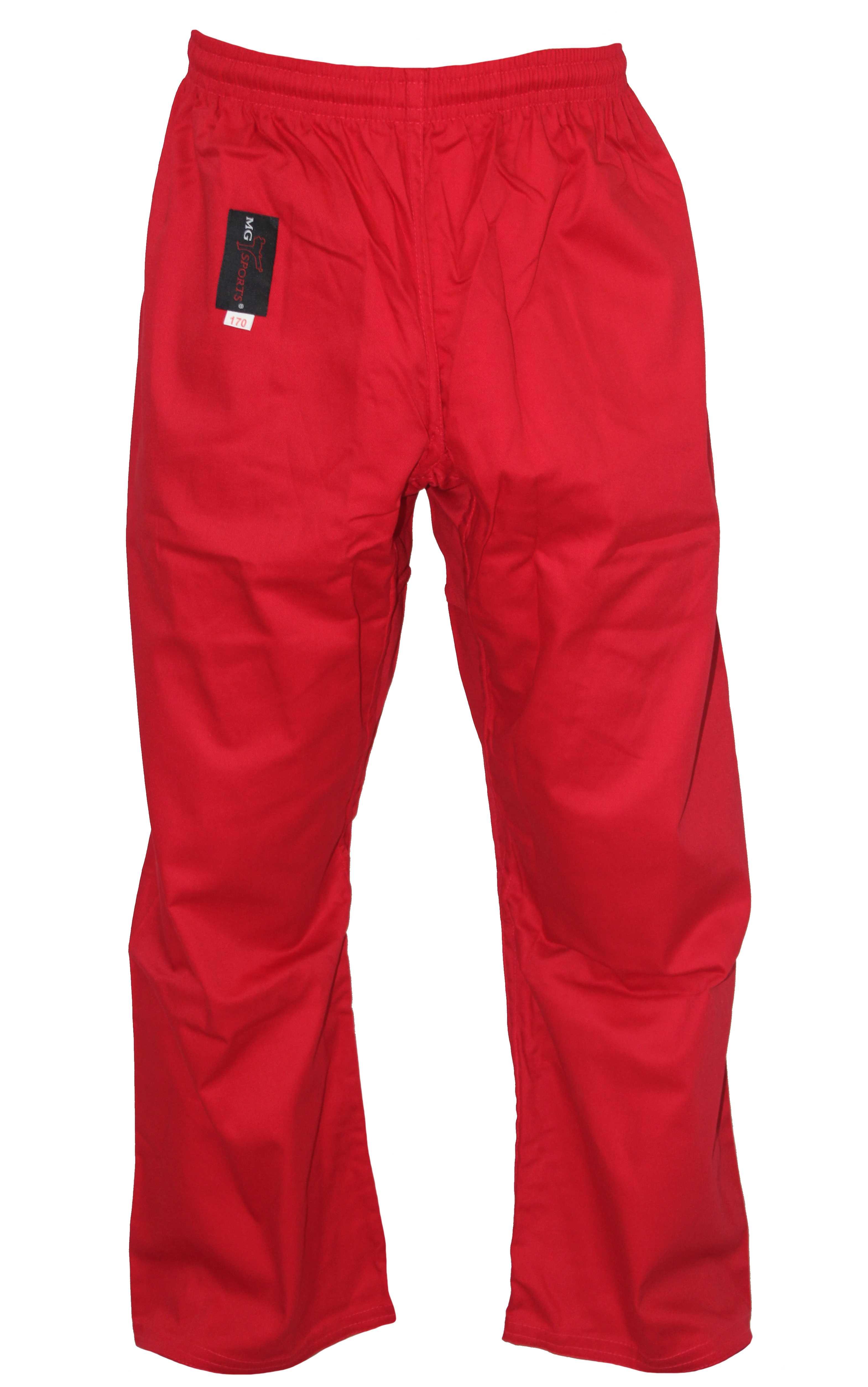 neueste professioneller Verkauf Großhandelsverkauf Taekwondo Hose rot Mischgewebe