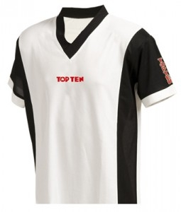 TOP TEN V-Shirts unisex 1955 weiß/schwarz
