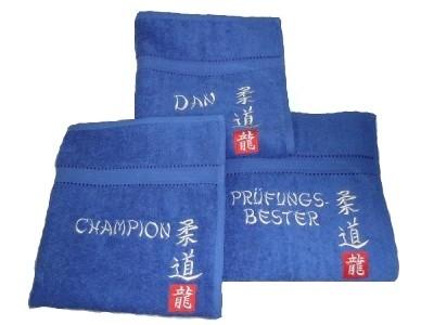 Handtuch blue silver spezial Judo